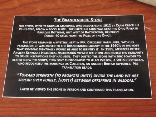 Brandenburg Stone plaque